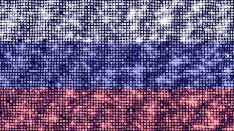 Spangle Flag Russian Fed Stock Video Footage