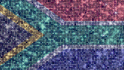 Spangle Flag South Africa Stock Video Footage