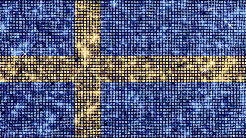Spangle Flag Sweden Stock Video Footage