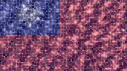 Spangle Flag Taiwan Stock Video Footage
