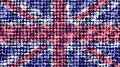 Spangle Flag United Kingdom Stock Video Footage