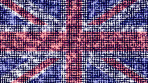 Spangle Flag United Kingdom Stock Video Footage