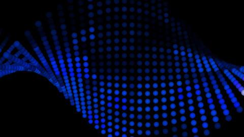 Light Balls Blue tint 1080 Stock Video Footage