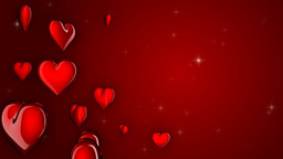 loopable red hearts, matte Stock Video Footage