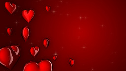 loopable red hearts, matte Animation