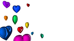 loopable colorful hearts, matte Animation