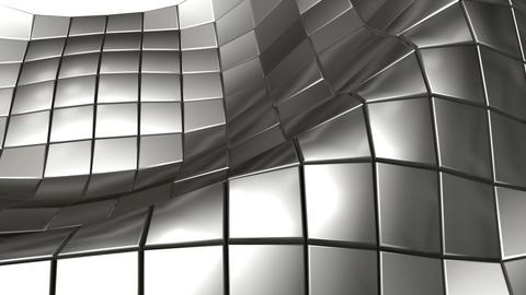 wave steel mesh Stock Video Footage