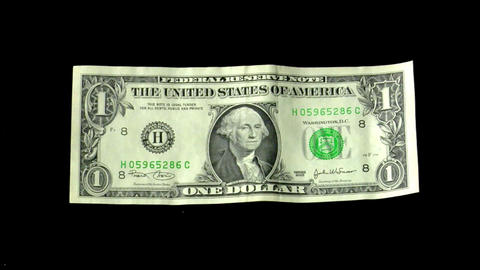 dollar under euro pressure Stock Video Footage