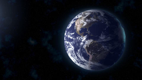 realistic Earth BG focus US Animation