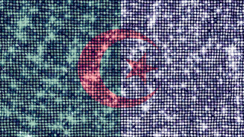 Spangle Flag Algeria Stock Video Footage
