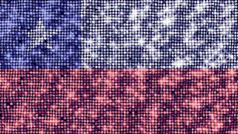 Spangle Flag Chile Animation