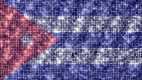 Spangle Flag Cuba Stock Video Footage