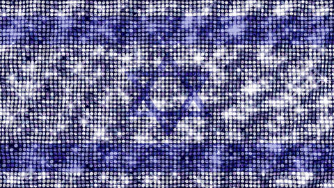 Spangle Flag Israel Animation