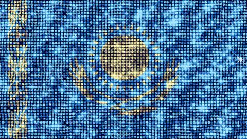 Spangle Flag Kazakhstan Animation