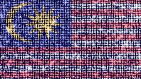 Spangle Flag Malaysia Stock Video Footage
