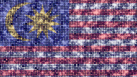 Spangle Flag Malaysia Animation