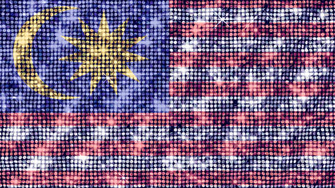 Spangle Flag Malaysia Stock Video Footage