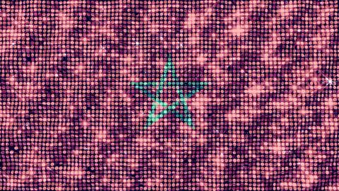 Spangle Flag Morocco Animation