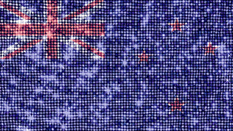 Spangle Flag New Zealand Stock Video Footage