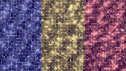 Spangle Flag Romania Animation