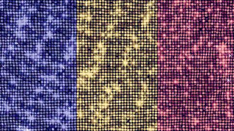 Spangle Flag Romania Stock Video Footage