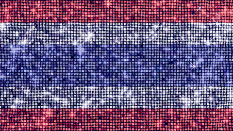 Spangle Flag Thailand Stock Video Footage