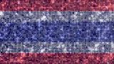 Spangle Flag Thailand stock footage