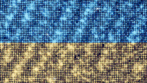 Spangle Flag Ukraine Stock Video Footage