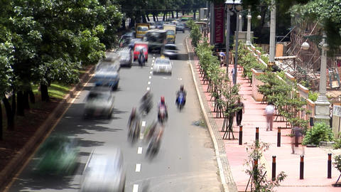 heavy asia city traffic Stock Video Footage