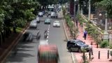 Heavy Asia City Traffic stock footage