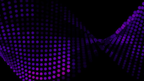 Light Balls Purple tint 1080 Stock Video Footage