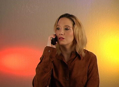 Beautiful Blonde Talking on a Cell Phone (3) Footage