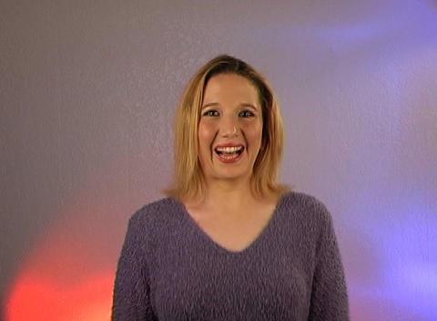 Beautiful Blonde - Sssshhh (1) Stock Video Footage