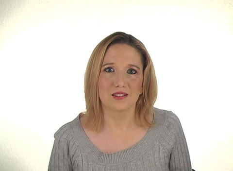 """Beautiful Young Blonde Shakes Her Head """"Yes"""" (2) Stock Video Footage"""