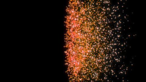 Orange Sparkle Star Particle Wipe Stock Video Footage