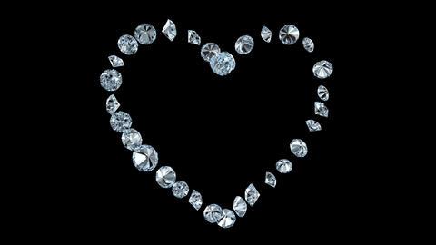 Diamond Heart rotation loop Animation