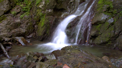 time lapse water flow waterfall wide Stock Video Footage