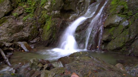 time lapse water flow waterfall wide Footage