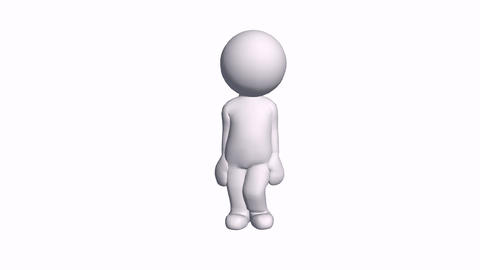 3D cartoon female character standing,comics people chat talking Animation