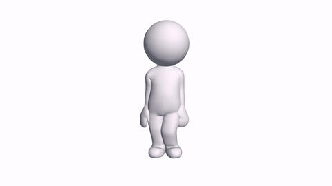 3D cartoon female character standing good awesome,comics people excited chat tal Animation