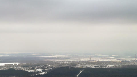 View of the winter landscape. Time Lapse. 1280x720 Footage