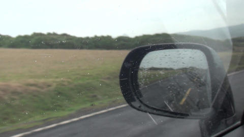 driving car in the rain Footage