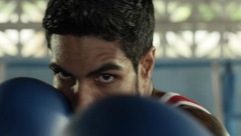 Athlete Boxing Slow Motion Footage