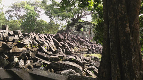 Ruins of a Beng Mealea Temple Footage