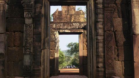 Ruins of Angkor Wat Temple Footage