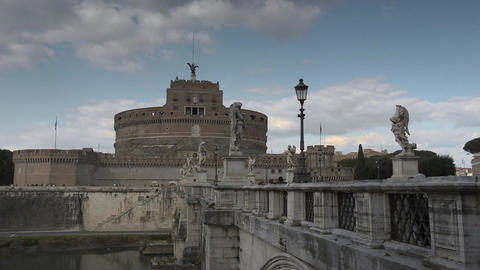 Sant Angelo Castle Stock Video Footage