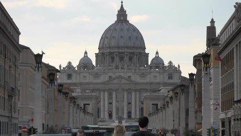 St. Peter's Basilica Stock Video Footage