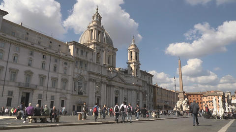 Tourists Outside a Church Footage