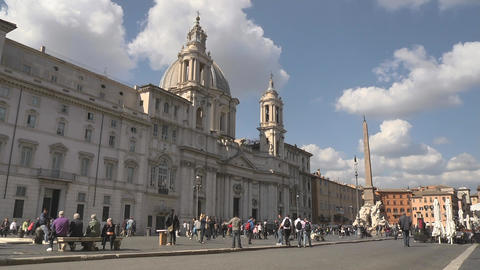 Tourists Outside a Church Stock Video Footage