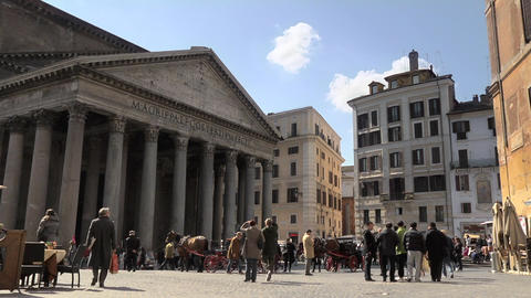 Tourists Walking Near Pantheon Footage